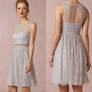 Anthropologie Hitherto Lavender Lace Dress 14